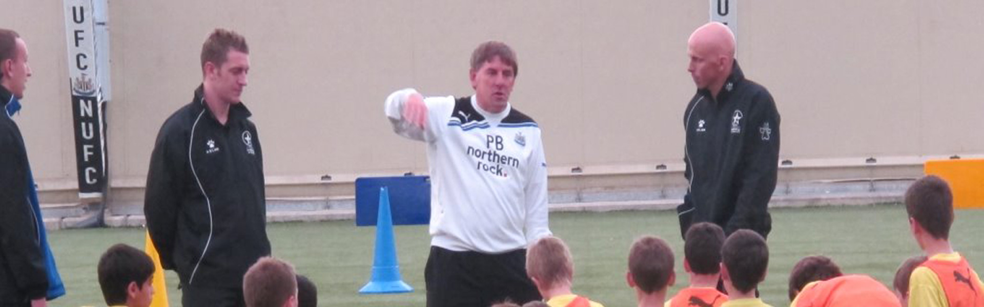 PFT training at Newcastle United with Peter Beardsley